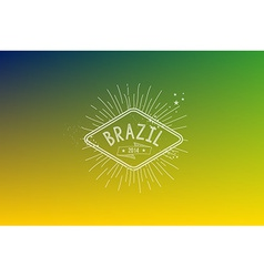 Brazil 2014 vintage label blurred background vector