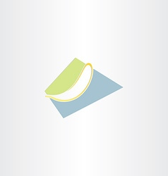 Stylized banana icon design vector