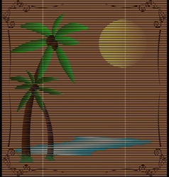 Straw mat summer landscape vector