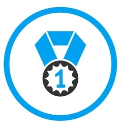 First place medal icon vector