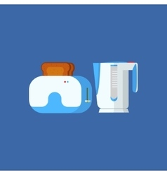 Toaster and kettle vector