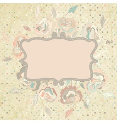 Pastel floral invitation template vector
