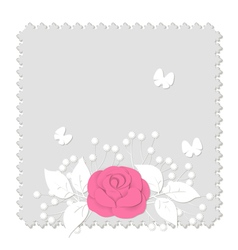 Rose on gray vector