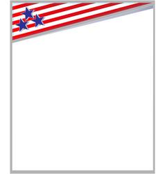american flag frame vector image