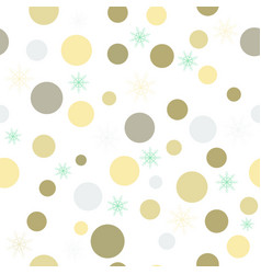 Christmas background with colored circles and vector
