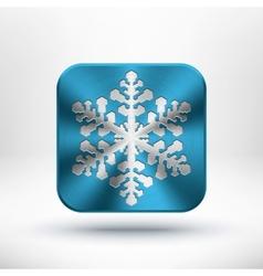 Christmas metal snowflake icon vector image vector image