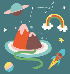 cosmos cartoon vector image vector image
