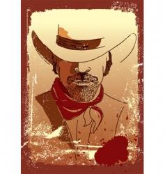 cowboy poster vector image vector image