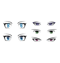 Different anime eyes vector