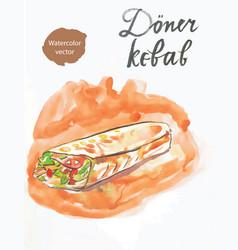 Doner kebab kebap vector