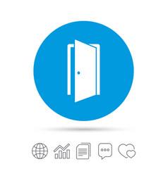 door sign icon enter or exit symbol vector image