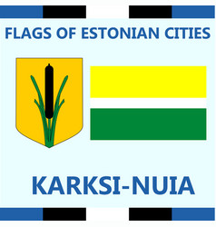 Flag of estonian city karksi-nuia vector