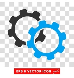 Gears Eps Icon vector image vector image