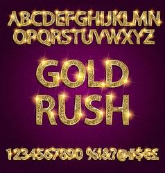 Gold rush alphabets vector