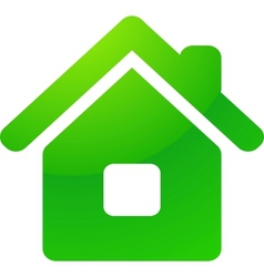 Green eco house icon vector image vector image