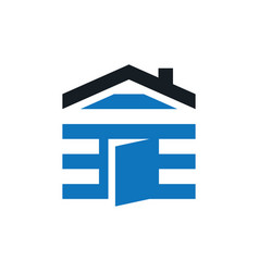home housing business logo vector image vector image