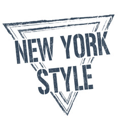 New york style grunge rubber stamp vector
