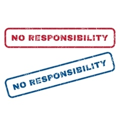 No responsibility rubber stamps vector