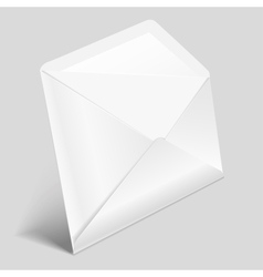 Open white envelope vector image