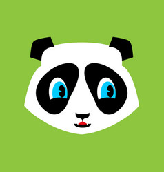 Panda cute emoji chinese bear nice face vector