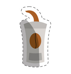 paper coffee cup cut line vector image