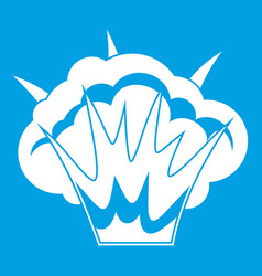 Projectile explosion icon white vector