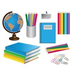 school belongings vector image vector image