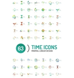 Set of abstract logo ideas time concepts vector