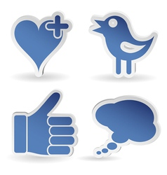 Set Social Media Sticker vector image vector image