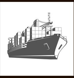 ship logo template vector image vector image