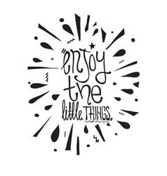 Simple vintage motivational poster doodles vector image vector image