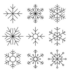 snowflake flat line icon vector image