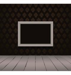 Vintage black interior with frame vector image vector image