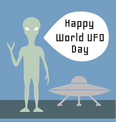 World ufo day vector