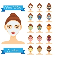 Young woman with facial mask vector