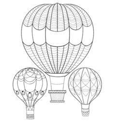 Air balloon patterned background for adult vector