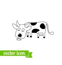 Cow icon 1 vector image