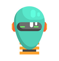 Android head facing portrait part of futuristic vector