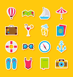 Summer time stickers vector