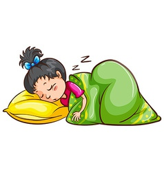 Sleeping vector image
