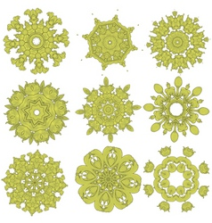 Green embroidery vector