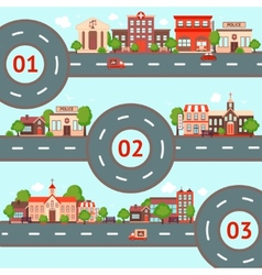 City infographics set vector