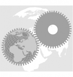 Earth wheel vector
