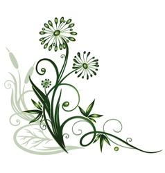 Flowers water vector image