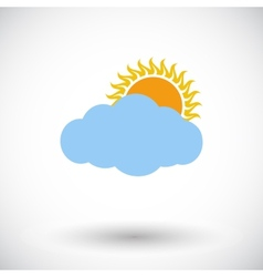 Overcast single icon vector