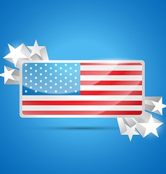 American flag label vector
