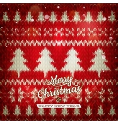Knitted christmas background eps 10 vector