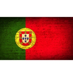 Flags portugal with dirty paper texture vector
