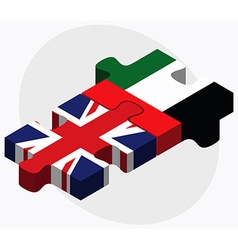 United kingdom and united arab emirates flags vector