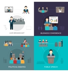 Public Speaking Set vector image
